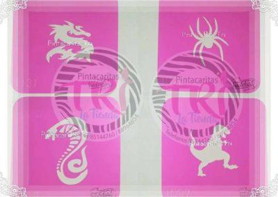 stencil pink power 4