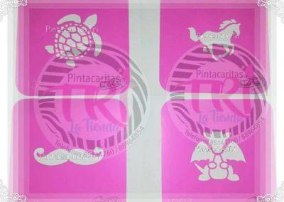 stencil pink power 5