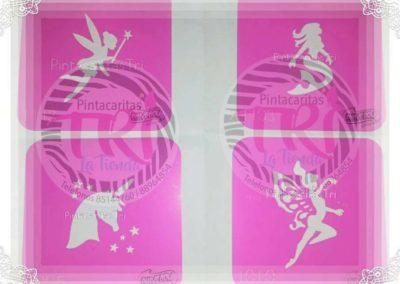 stencil pink power 6