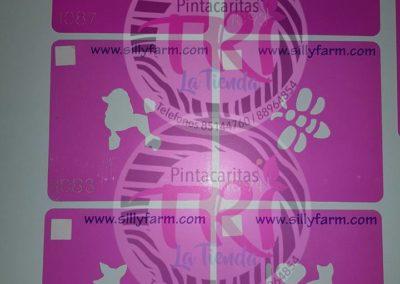 stencil power pink